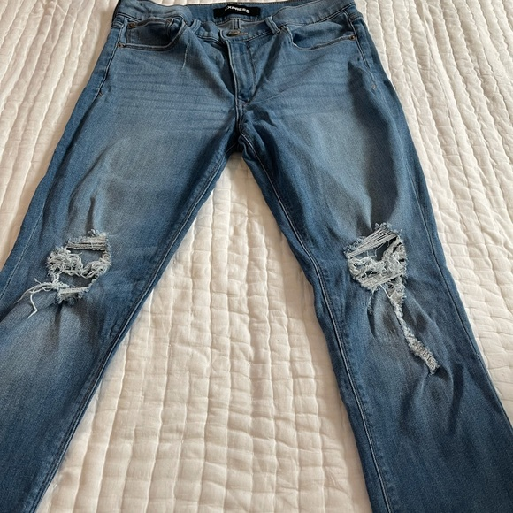 Express jeans 10 long midrise